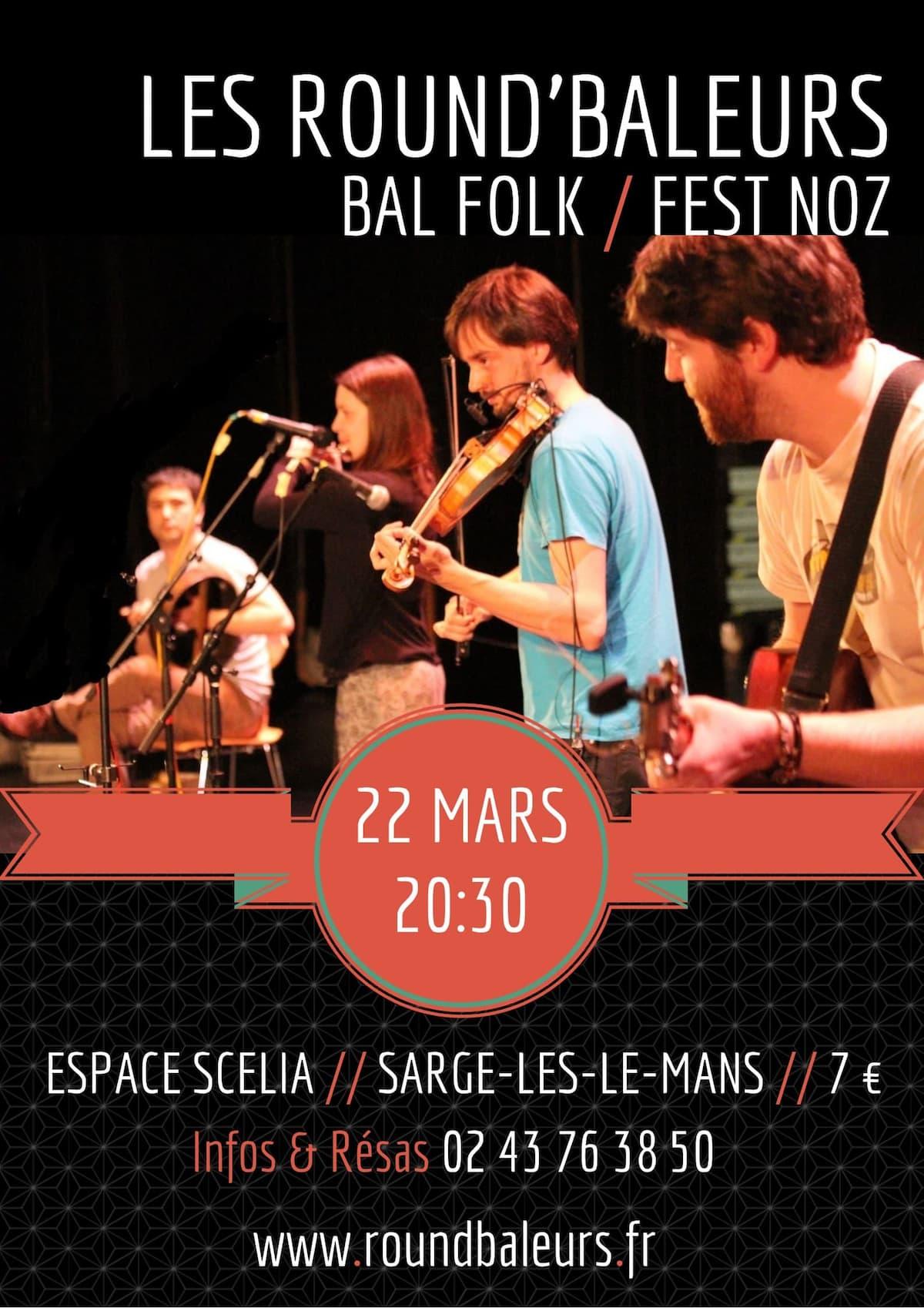 Bal de la Saint-Patrick avec Les Round'Baleurs // Sargé-lès-le-mans // 22 mars 2014