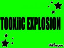 toxic explosion